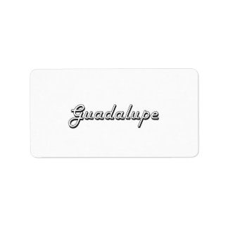 Guadalupe Classic Retro Name Design Address Label