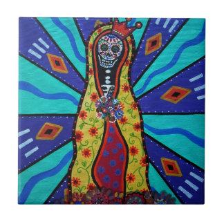 Guadalupe Dia de Los Muertos Tiles by prisarts