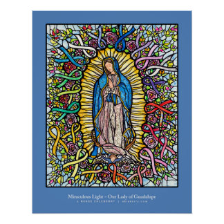 Guadalupe / Pink Ribbon All Ribbon art - Ekleberry Poster
