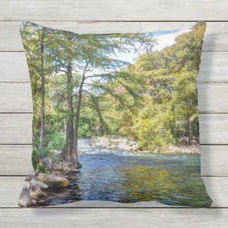 Guadalupe River Outdoor Pillow