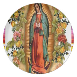 GUADALUPE VIRGIN MEXICO 07  CUSTOMIZABLE PRODUCTS DINNER PLATE
