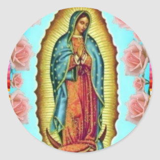 GUADALUPE VIRGIN MEXICO 11  CUSTOMIZABLE PRODUCTS CLASSIC ROUND STICKER