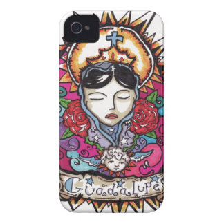 Guadalupe with angel Case-Mate iPhone 4 case