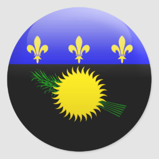Guadeloupe Flag Classic Round Sticker