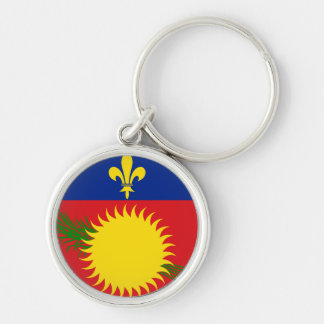 Guadeloupe Flag Keychain