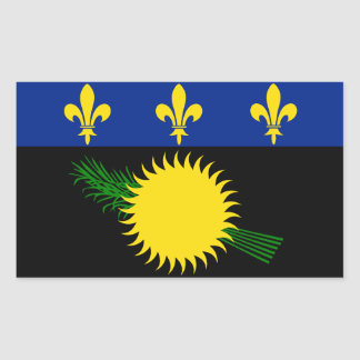 Guadeloupe Flag Sticker