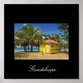 guadeloupe-plage Guadeloupe Affiche