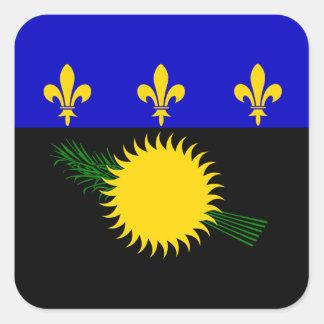 Guadeloupean Flag Square Sticker