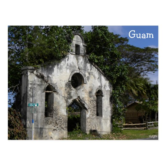 Guam Baptist Church Ruins Postcard