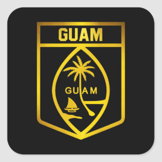 Guam Emblem Square Sticker