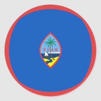 Guam Fisheye Flag Sticker