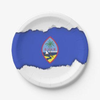 Guam Flag 7 Inch Paper Plate