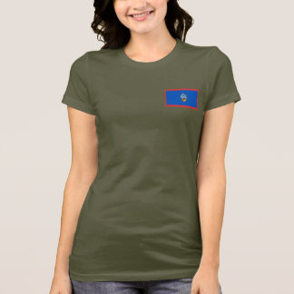 Guam Flag and Map dk T-Shirt