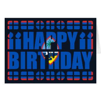 Guam Flag Birthday Card