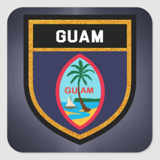 Guam Flag Square Sticker