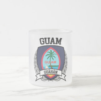 Guam Frosted Glass Coffee Mug