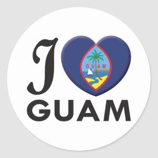 Guam Love Classic Round Sticker