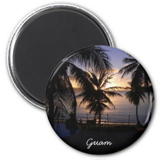 Guam 2 Inch Round Magnet