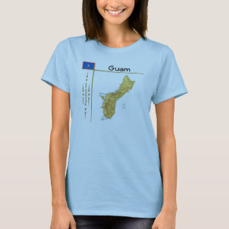 Guam Map + Flag + Title T-Shirt