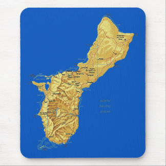 Guam Map Mousepad