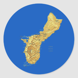 Guam Map Sticker