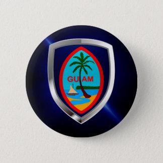 Guam Mettalic Emblem 2 Inch Round Button