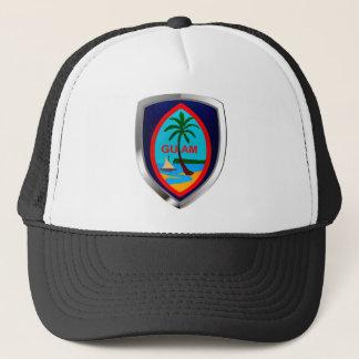 Guam Mettalic Emblem Trucker Hat