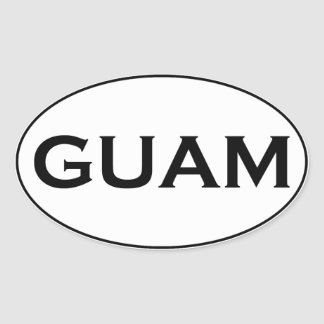 GUAM OVAL STICKER