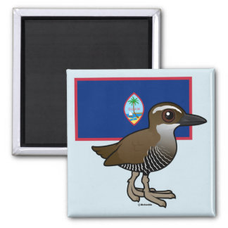 Guam Rail with Flag Magnet