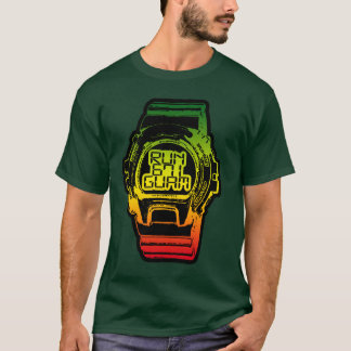 GUAM RUN 671 Chamorro Time Reggea Shock Watch T-Shirt