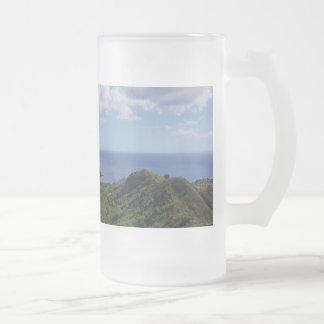 Guam Seti Bay Frosted Glass Beer Mug