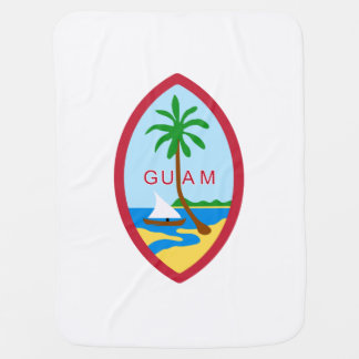 Guamanian  coat of arms baby blanket