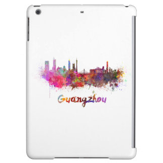 Guangzhou skyline in watercolor iPad air cases