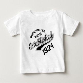 Guaranteed 100% Established 1924 Baby T-Shirt