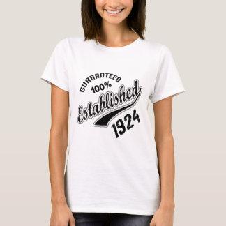 Guaranteed 100% Established 1924 T-Shirt