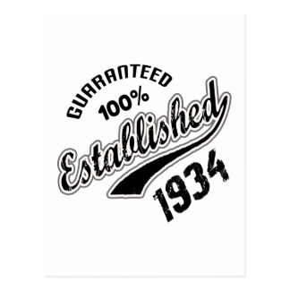 Guaranteed 100% Established 1934 Postcard