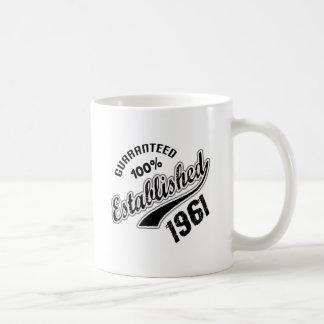 Guaranteed 100% Established 1961 Coffee Mug