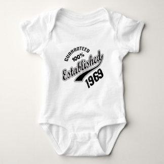 Guaranteed 100% Established 1969 Baby Bodysuit