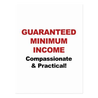 Guaranteed Minimum Income Postcard