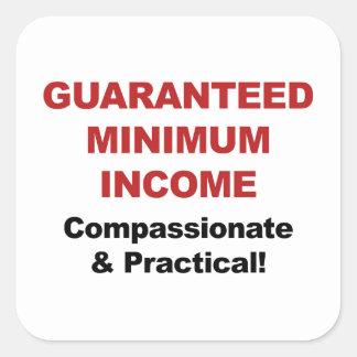 Guaranteed Minimum Income Square Sticker