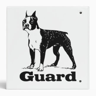 Guard Dog Boston Terrier 3 Ring Binders