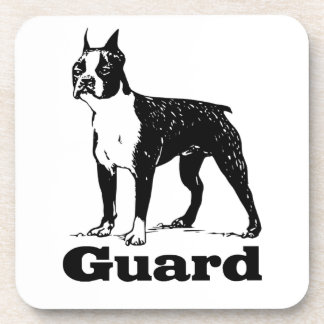 Guard Dog Boston Terrier Beverage Coasters