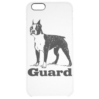 Guard Dog Boston Terrier Clear iPhone 6 Plus Case