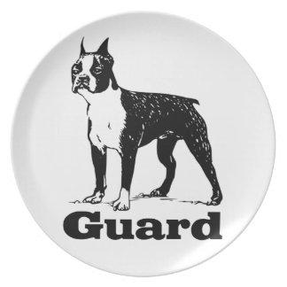 Guard Dog Boston Terrier Dinner Plate