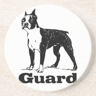 Guard Dog Boston Terrier Drink Coaster