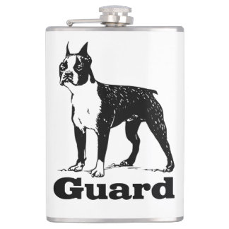 Guard Dog Boston Terrier Flask