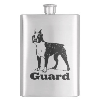 Guard Dog Boston Terrier Hip Flask