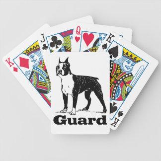 Guard Dog Boston Terrier Poker Deck