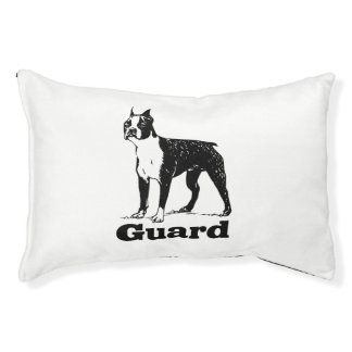 Guard Dog Boston Terrier Small Dog Bed