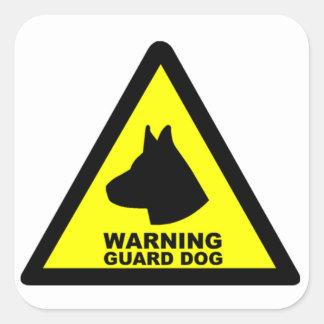 Guard Dog Symbol Square Sticker